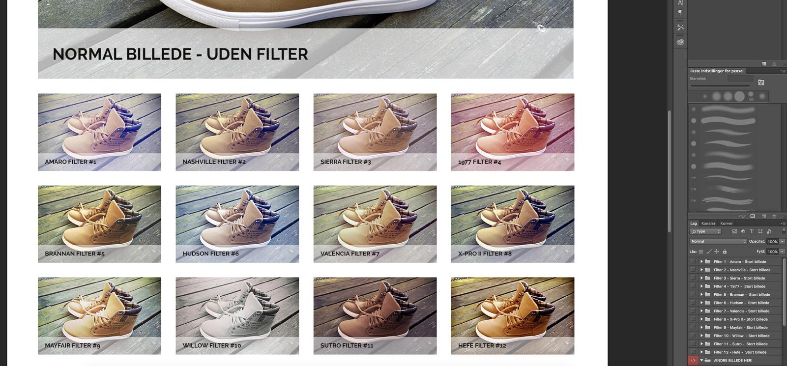 Trin 11 - finde filter du vil bruge/redigere