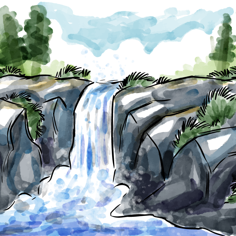 vandfaldsmodellen