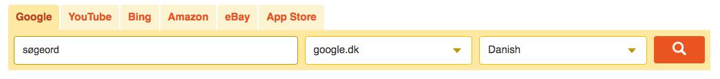 keyword tool søgefelt