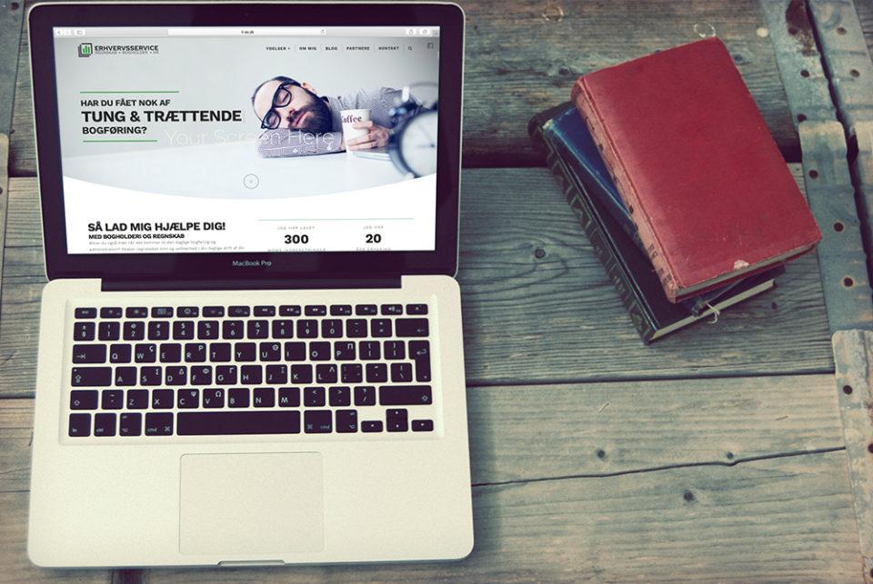 LL-erhvervsservice hjemmeside design