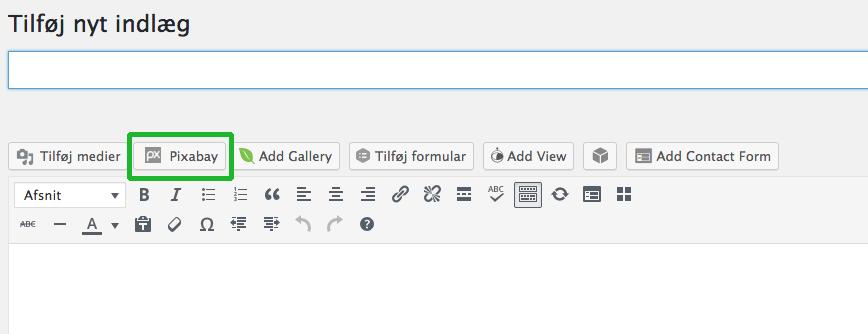 Pixabay 1 - gratis billeder i WordPress