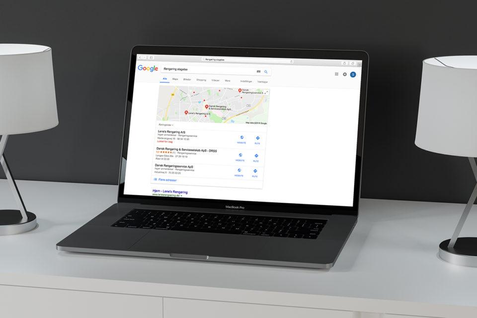 Mockup Lokal søgemaskineoptimering