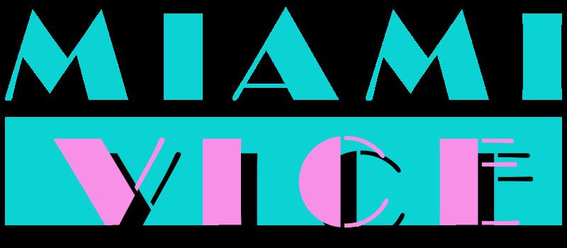 Miami Vice logo Memphis-stilen