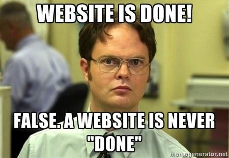 opdater website meme
