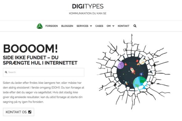 eksempel på 404 side - digitypes.dk