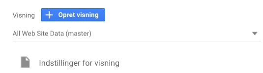 indstilling for visning i google analytics