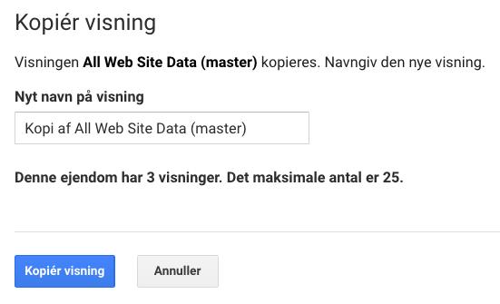 nyt navn på visning i google analytics