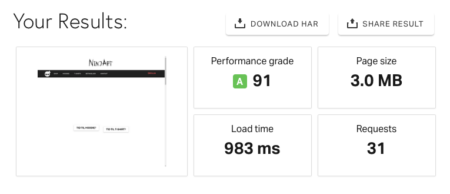 Pingdom speed test overall score screendumb