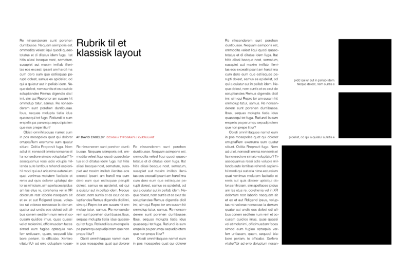 klassisk magasinlayout white space
