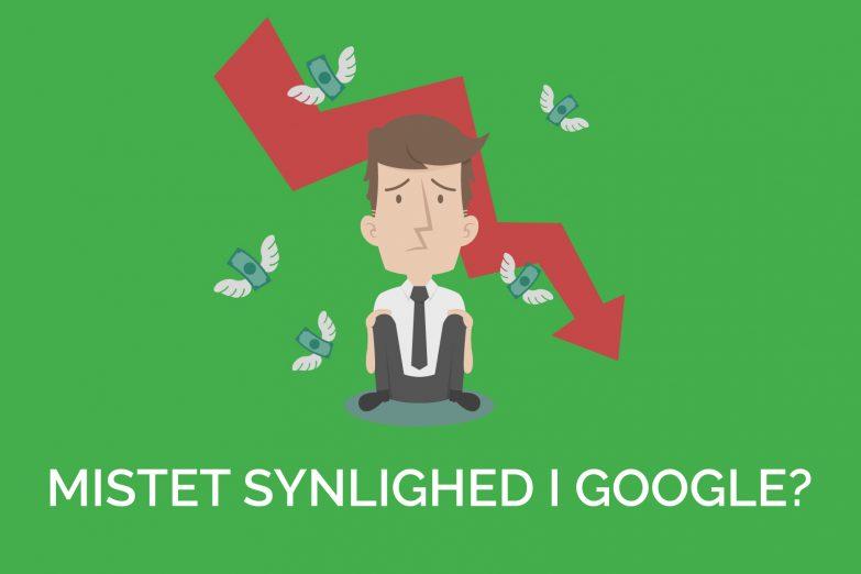 mistet synlighed i Google