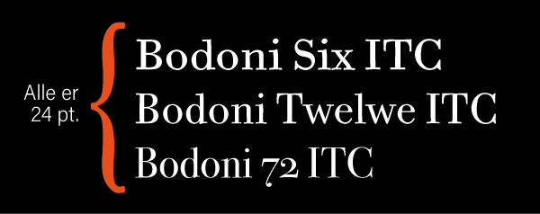 bodoni skrifttype
