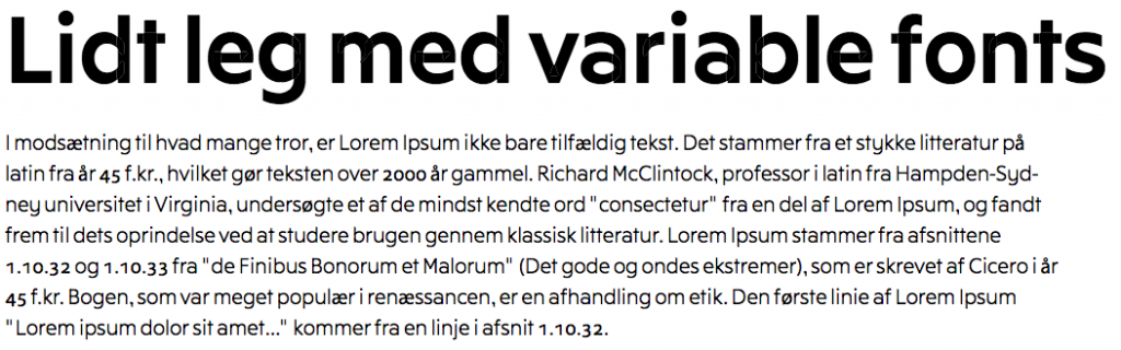 leg med variable fonts