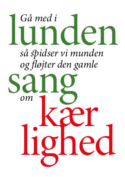 variable font plakat med Minion font