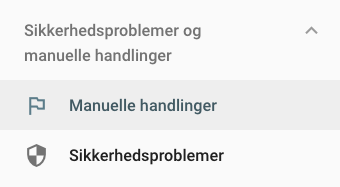 Manuelle handlinger i Google Search Console