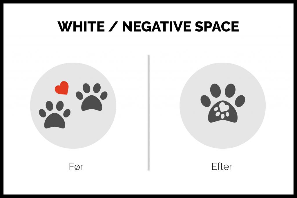 white space/negativ space designprincipper