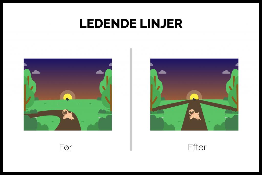 ledende linjer og stier i designprincipper