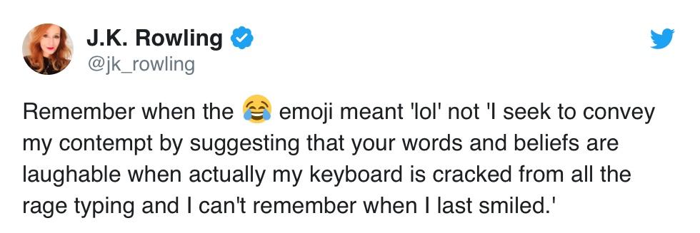 JK Rowling emoji tweet