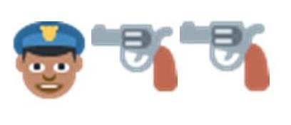 politi og pistol emoji